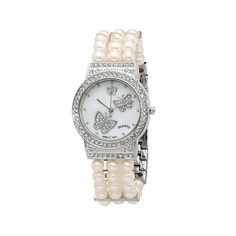 Colleen Lopez Cultured Freshwater Pearl Butterfly Watch