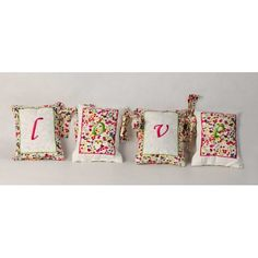Pillows LOVE Anabelle 100% cotton! Customizable! $55; pillow , pillows , love , gift idea , monart , monogrammed , monogram