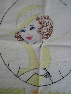 Vintage Embroidered Pillowcase | eBay