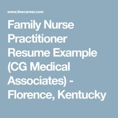 Graduate Nurse Practitioner Cv Samples  HttpResumesdesignCom