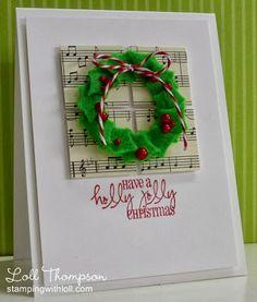 Merry Monday Christmas Card Club-Use Music or Create a Carol Inspired card!