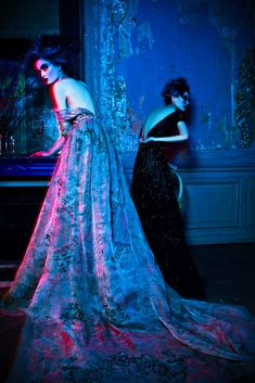 Pauline Van Der Cruysse & Zhu Lin in ELIE SAAB Haute Couture Autumn-Winter 2012-13 shot by Michelle du Xuan and styled by Hanae Uwjima for the September issue of L'Officiel China.