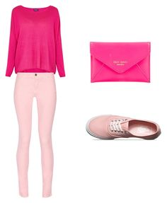 """That girl in pink"" by xultimatefangirlx on Polyvore featuring Kate Spade, Splendid, Maison Kitsuné and Vans"