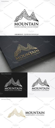 eb0d4bb57a Mountain logo by Vectorwins Premium Shop on