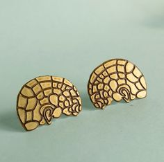 Phrenology Head Earrings by Your Organ Grinder