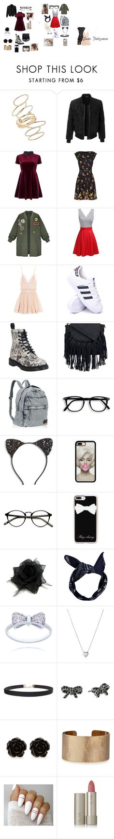 """best friends / polar opposites"" by unicornlovewilson on Polyvore featuring BP., LE3NO, Miss Selfridge, WithChic, Alexander McQueen, adidas, Dr. Martens, Cara, Casetify and Boohoo"