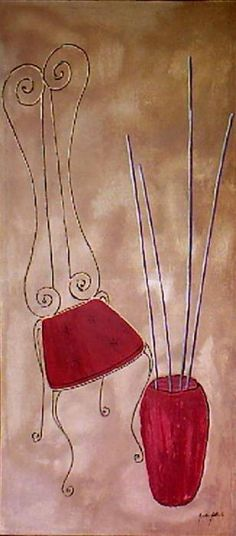 Stylish Chair by Anton Alberts Stylish Chairs, Painted Chairs, Anton, Greeting Cards, Wall Art, Painting, Home Decor, Painted High Chairs, Decoration Home