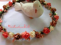 FALL Bridal CROWN Floral Grapevine Bridal by ArkSouthernBelle