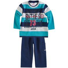 Conjunto Infantil Masculino Listrado Azul - Brandili :: 764 Kids | Roupa bebê e infantil