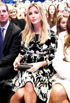 Ivanka Trump chose a fitted, floral dress for the GOP presidential debate in Charleston on Jan. 14; see the pregnancy style photos!