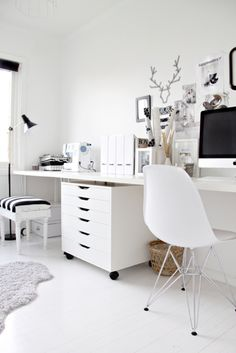 Small long desk for notebook, studying and make-up! All in one!