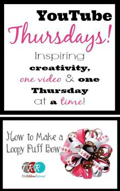 How To Make A Loopy Puff Bow, YouTube Thursdays! - The Ribbon Retreat Blog