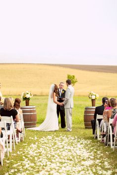 Gorgeous field wedding