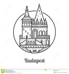 Travel Budapest Icon Stock Vector - Image: 86069599