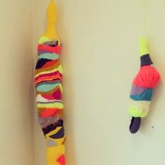 Knitted objects by Stine Leth