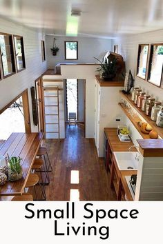 We absolutely love this tiny house design! What do you think? Tag a fellow tiny … We absolutely love this tiny house design!✨ What do you think? Tag a fellow tiny house lover! Modern Tiny House, Tiny House Living, Tiny House Plans, Tiny House Design, Tiny House On Wheels, Tiny House Loft, Modern Houses, Small Home Design, Tiny House 2 Bedroom