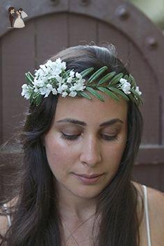 Fern Flower Crown. Green Flower Crown. Greenery Flower Crown. Green Bridal Crown. Green wedding crown. - Bridal hair accessories (*Amazon Partner-Link)