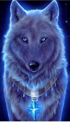 Wolf Wallpaper - My Wallpaper Mystical Animals, Mythical Creatures Art, Fantasy Creatures, Dark Fantasy Art, Fantasy Wolf, Beautiful Fantasy Art, Pet Anime, Anime Animals, Cute Animals