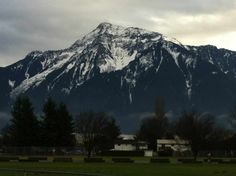 Mt Cheam looking south from Agassiz, BC