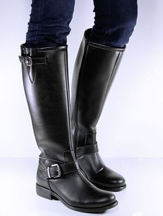Knee Length Boots - Vegan Black High boots - Will's Vegan Shoes
