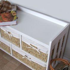 w schekorbkommode mit w schekorb im rattan look. Black Bedroom Furniture Sets. Home Design Ideas
