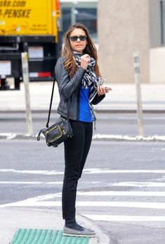 Nina Dobrev... We have the same shoes, I wouldn't wear socks that show, but hey, we have the same shoes!!!