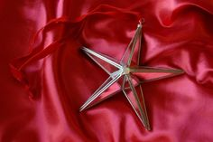 Mirror Faced Star with velvet ribbon Heaven in Earth