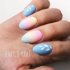 Cute And Delicate Pastel Ombre Nails For Sweetest Girls #ovalnails #floralnails #ombrenails #mattenails ❤️ We have collected the freshest nail designs for summer 2018. Opt for vibrant colors and design to look super cool. ❤️ See more: https://naildesignsjournal.com/nail-designs-for-summer/ #naildesignsjournal #nails #nailart #naildesigns #summernails #nailsforsummer #brightnails