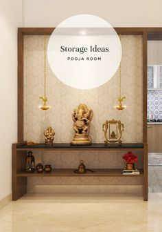 Step away from boring pooja units and take a look at some amazing designs that combine display and storage! unit with mandir Pooja Room Designs for that Divine Corner at Home Pooja Room Design, Room Design, Pooja Rooms, Indian Home Decor, Room Interior, Room Doors, House Interior, Room Door Design, Pooja Room Door Design