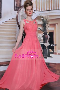 2014 Sicilian Style Perfect Open Back Prom Dress A Line Chiffon #31006 (Color Just As Picture Show) USD 176.99 BAPQC3HP1T - BallProm.com