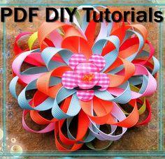 How To Make Ribbon Flower Hair Bows and Hair por DIYboutiqueShoppe