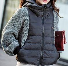 8% СКИДКА Для женщин s сезон зима весна. вязание рукава летучая мышь куртка  с капюшоном Для женщин толстый рукав
