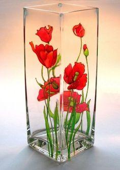 ДЕКУПАЖ СТЕКЛА > Делаем уникальные вазы   Декупаж на стекле