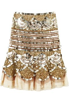 Every girl needs a skirt that can light up the room #fahsion #skirt #sparkle