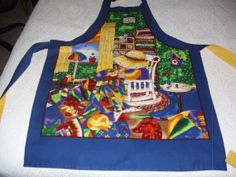 Colorful with Golds and Blues predominate by KaTerryTheSewSisters, $25.00
