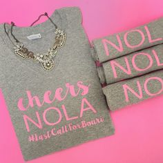 Another custom bachelorette party order completed! Contact us on Etsy to create your own today!   Cheers NOLA tee Cheers Y'all tee Champagne Tee Bachelorette party tee Bachelorette Tee New Orleans Bachelorette NOLA Bachelorette NOLA Bride