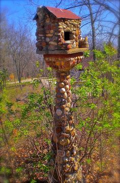 Awesome!! Birdhouse made of stone   Outdoor Areas