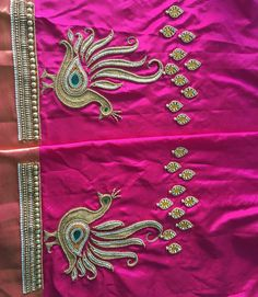 Hand Work Blouse Design, Kids Blouse Designs, Aari Work Blouse, Simple Blouse Designs, Saree Blouse Neck Designs, Dress Neck Designs, Bridal Blouse Designs, Hand Designs, Sleeve Designs