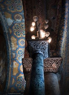 hagia sophia column details, Turkey
