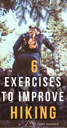 Hiking is becoming a more prevalent way of exercising, and for good reason - as people look to disconnect from the stresses of life and slow down and reconnect with nature. Here are 6 Body weight exercises to ensure you last out on the trails. Thru Hiking, Hiking Tips, Camping And Hiking, Hiking Gear, Hiking Backpack, Hiking Shoes, Camp Gear, Camping Tips, Fitness Workouts