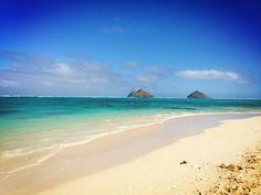 Lanikai Beach in Kailua, Hawaii. Prettiest water I've ever seen!