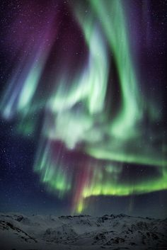 Greenland is one of the best places in the world to observe the fantastic northern lights.