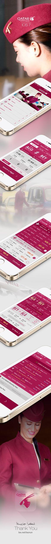 Flight App redesign on IOS 7 for Qatar Airways