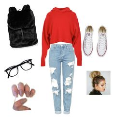 """lazy day"" by tijona on Polyvore featuring TIBI, Topshop, Converse and Puma"