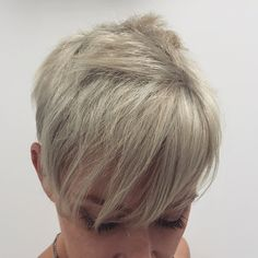 Color. Cut. Previously colored 5/66 x5. Decided to go Ash Blonde. Achieved this result in one appointment using @olaplex. Lifted previously colored red hair x3 to reach a pale yellow state and then glazed using a 9b shades eq formula. #colorcorrection #ashblonde #platinumbblonde #blonde #beforeafter #hairpics #btcpics #modernsalon #pixiecut #shortblondehair #davinesnorthamerica #redken