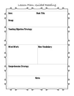 Wbt Lesson Plan Template From The Training  Second Grade