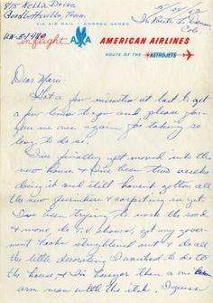 Patsy Cline letter