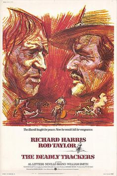 Richard Harris, Rod Taylor, THE DEADLY TRACKERS, Movie Poster