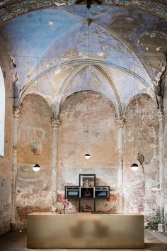 Photo 3 of 9 in This Chapel-Turned-Office in Belgium Is Unbelievably Cool #kitchen #chapel #office #renovation #belgium