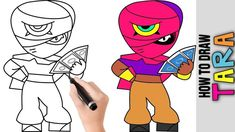 How To Draw Tara From Brawl Stars Cute Easy Drawings Tutorial For Begi Easy Drawing Tutorial, Tohru Honda, Star Coloring Pages, Drawing Tutorials For Beginners, Cute Easy Drawings, Simple Cartoon, Star Art, Trends, Step By Step Drawing